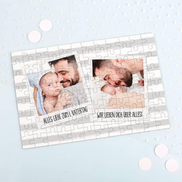 Fotopuzzle zum Vatertag mit Ihren Bildern und Wunschtexten