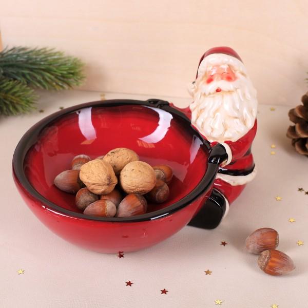 Keramikschale mit Weihnachtsmann