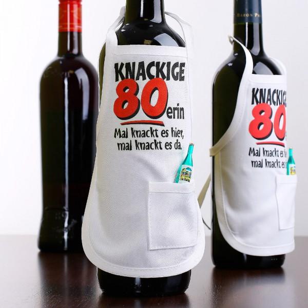 Knackige Flaschenschürze zum 80. Geburtstag