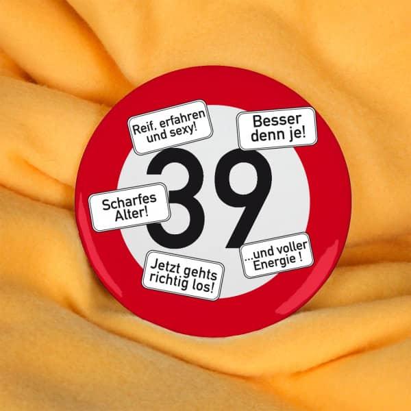 Button zum 39. Geburtstag