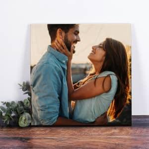 Quadrat Holzbild mit Foto