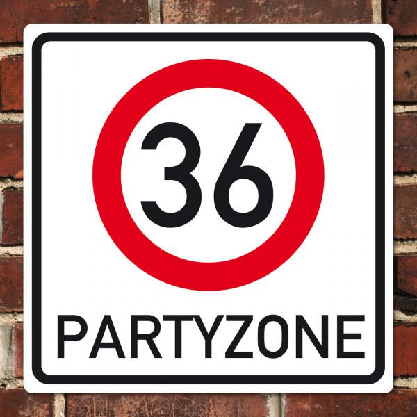 Schild speziell zum 36. Geburtstag