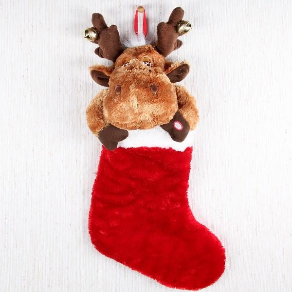 Elch Stiefel zu Weihnachten