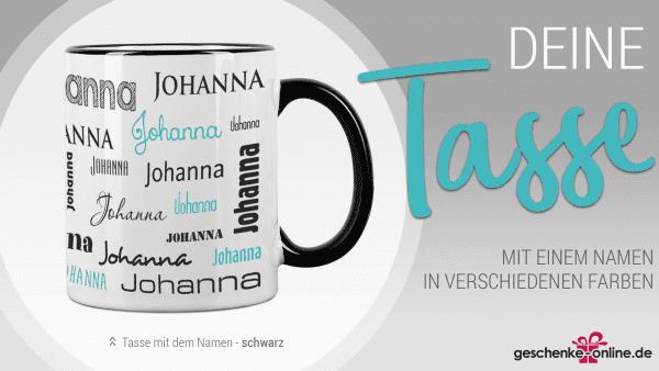 personalisierte Tasse mit deinem Namen | Geschenkidee für die Freundin, Freund, Mama, Papa und Co.