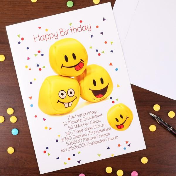 Karte in XL zum Geburtstag