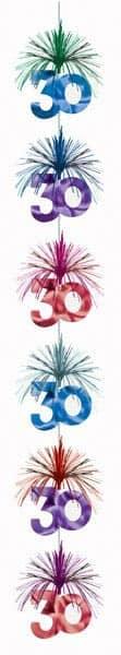 Deko Kaskade zum 30. Geburtstag