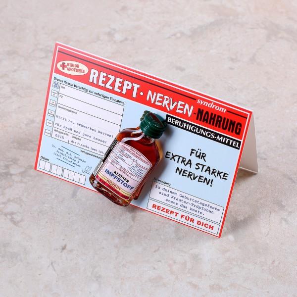 Rezept Nervennahrung mit Miniflachmann