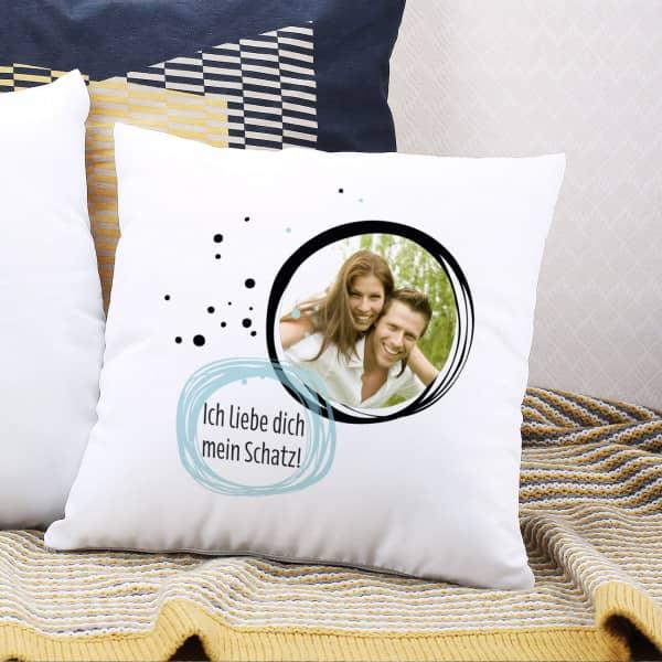 Kissen mit Foto und Wunschtext