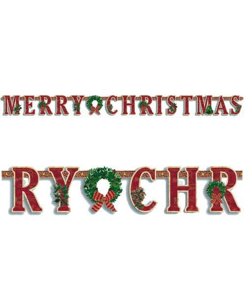 Buchstabengirlande Merry Christmas