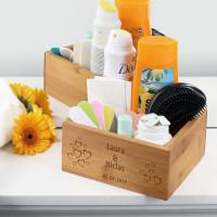 Aufbewahrungsbox zur Hochzeit mit Herzen, Namen und Datum