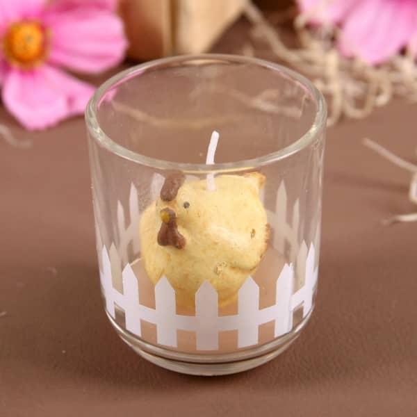 Kerze im Glas - Huhn