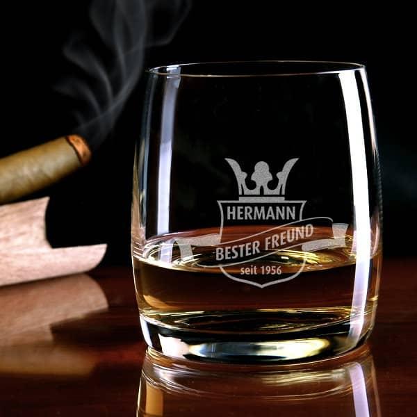 Wappen Whiskyglas mit Gravur