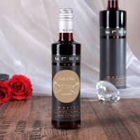 Kleine BREE Weinflasche mit Taubenmotiv als Gastgeschenk zur Hochzeit