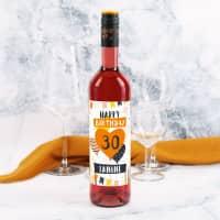 Lieblingswein zum Geburtstag mit Name und Alter