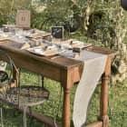 Deko-Tischläufer aus Baumwolle in Naturfarben
