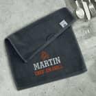 Chef am Grill - besticktes Handtuch mit Name 30x50cm
