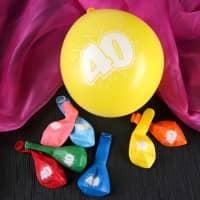 8 Luftballons zum 40. Geburtstag