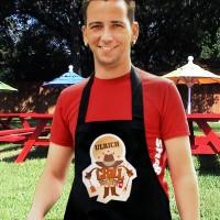 Personalisierte Grillschürze mit BBQ-Aufdruck