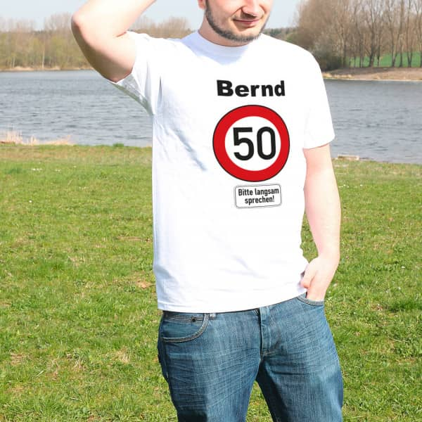 Ausgefallenes T Shirt zum 50. Geburtstag mit Namen