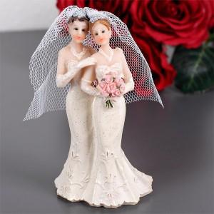Gleichgeschlechtliche Hochzeitsfiguren Frauen