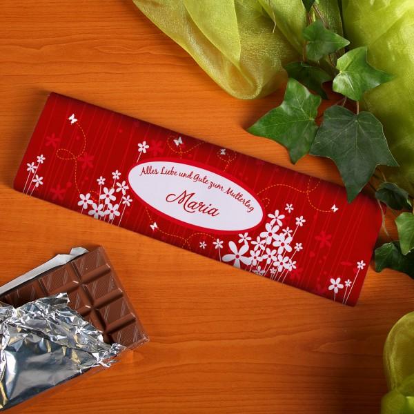 Schokolade für die Mama mit Wunschnamen