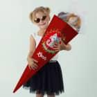 Süße Kätzchen Schultüte für Mädchen mit roten Punkten und Name
