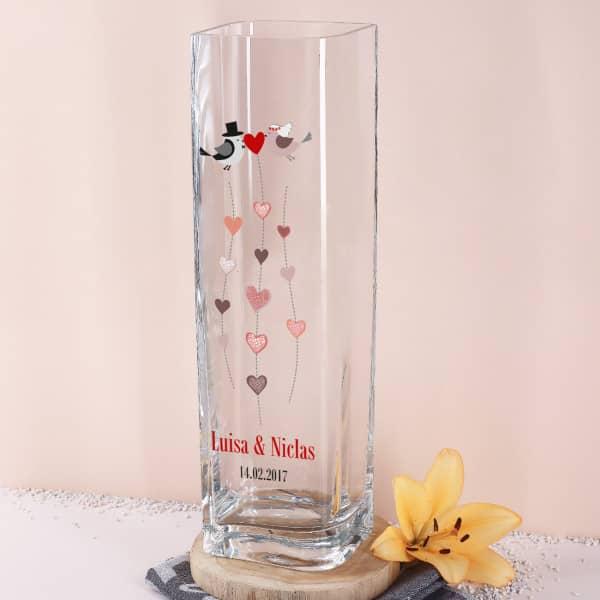 Geschenk zum Muttertag gravierte Vase f/ür Mama Blumenvase von Leonardo mit kostenloser Gravur Glasvase Beste Mama Dekovase personalisiert