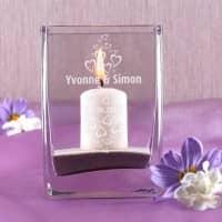 Edle Vase zur Hochzeit, mit kleinen Herzen