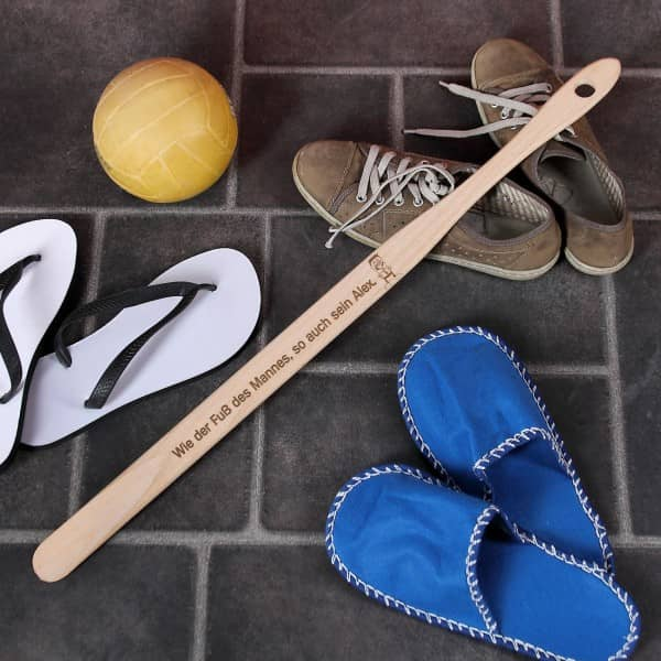 Schuhanzieher für Männer mit Spruch und Namen