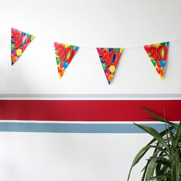 Wimpelkette mit Ballons zum 30. Geburtstag