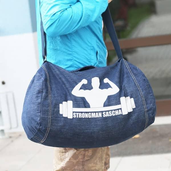 Bedruckte Sporttasche im XXL Format mit Wunschtext
