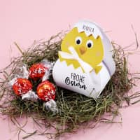 Küken mit 3 Lindorkugeln zu Ostern