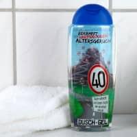 Duschgel Altersgeruch zum 40. Geburtstag mit lustigen Sprüchen