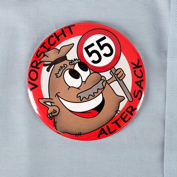 Button für den alten Sack zum 55.