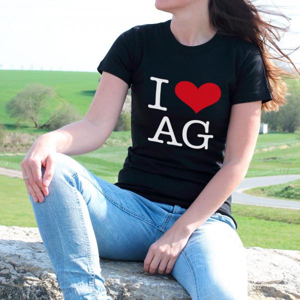 T Shirt zum Valentinstag mit Herz und Initialen