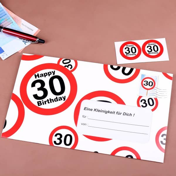 XXL Umschlag für Geldgeschenk zum 30.