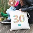 Individueller Baumwollbeutel zum 30. Geburtstag