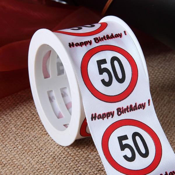 Satin-Geschenkband 50 Jahre