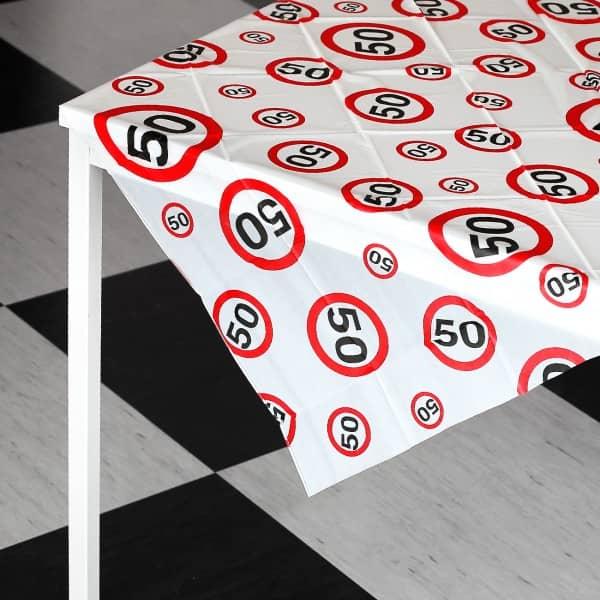 Tischdecke zum 50. Geburtstag
