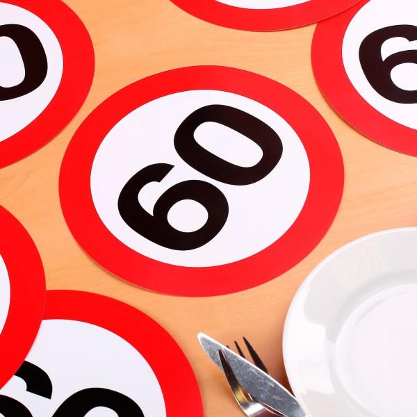 Riesen Konfetti Verkehrszeichen zum 60.