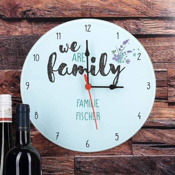 Bedruckte Uhr aus Glas