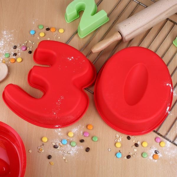 XL Backform Ziffer 30 zum Geburtstag oder Jubiläum