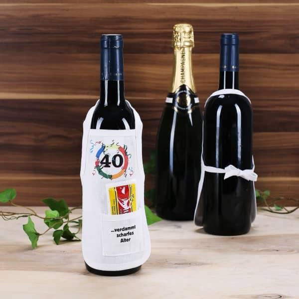 Flaschenschürze: 40 - verdammt scharfes Alter!