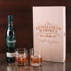 Glenfiddich Single Malt Whisky Geschenkset mit Whiskyglas und Holzkiste