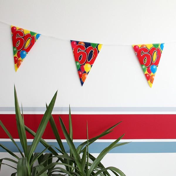 bunte Wanddekoration zum 60. Geburtstag
