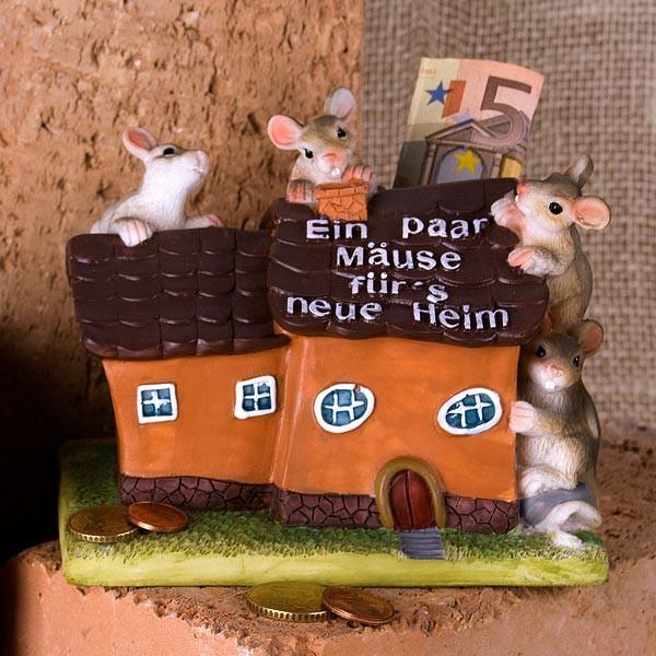 Ein paar Mäuse fürs neue Heim Spardose