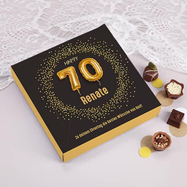 Pralinen zum 70. Geburtstag