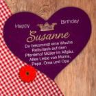 Großes Herz-Puzzle - Happy Birthday