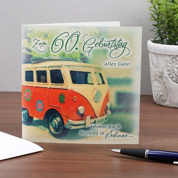 Glückwunschkarte zum 60. Geburtstag Alles Gute!