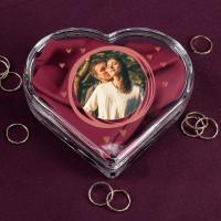 Leonardo Glasdose in Herzform mit Ihrem Foto zum Valentinstag